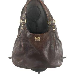Coach Maggie Madison Walnut Leather Shoulder Bag